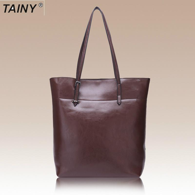2017 Tainy European  American Style Women Genuine Leather Cow Leather Shoulder Bags handbag