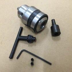 Uchwyt wiertarski 1.5 10mm B12 stożek Mount + stali nierdzewnej wał silnika korbowód 14mm w Akcesoria do elektronarzędzi od Narzędzia na