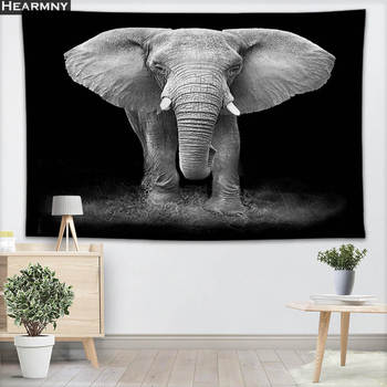 Animals Elephant Wall Hanging Tapestry Sheets Home Decorative Tapestries Beach Towel Yoga Mat Blanket Table Cloth - discount item  20% OFF Home Textile