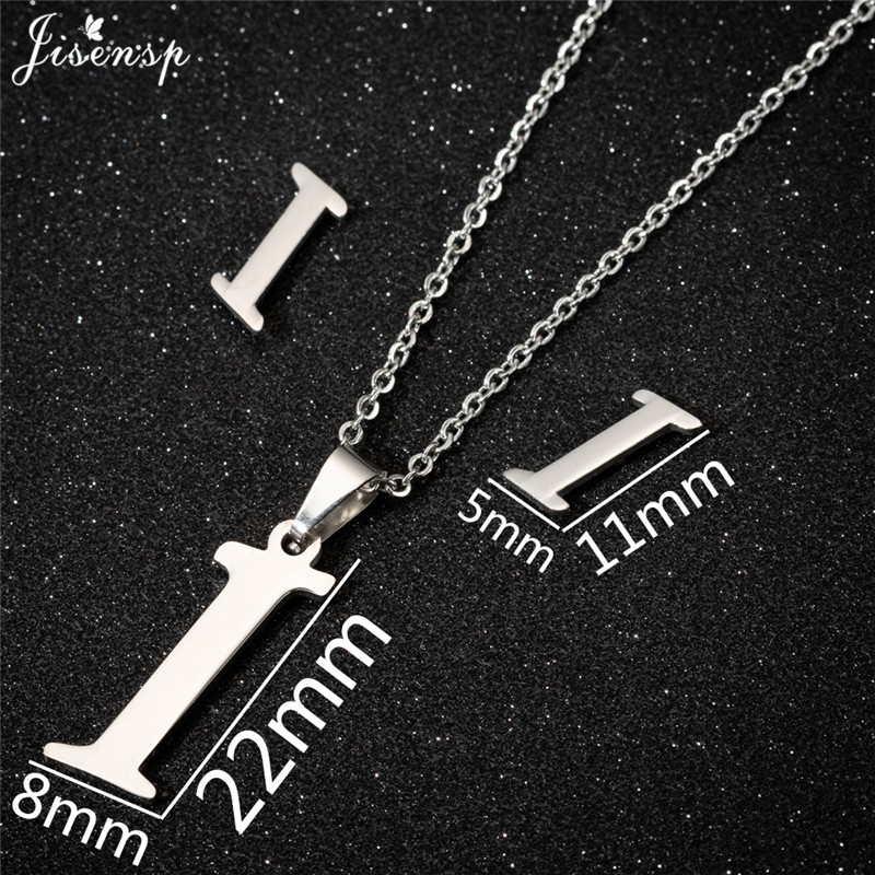 Jisensp Personalized A-Z Letter Alphabet Pendant Necklace Gold Chain Initial Necklaces Charms for Women Jewelry Dropshipping 18