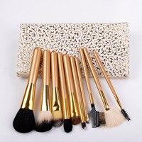 Free Shipping Professional 10Pcs Makeup Brush Set Foundation Powder Brushes High Quality Make Up Tool Kit