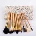 10 unids Cosméticos brochas de herramientas profesionales para La Mujer del Kabuki Cosméticos pinceles de maquillaje de cepillo del maquillaje Fundación