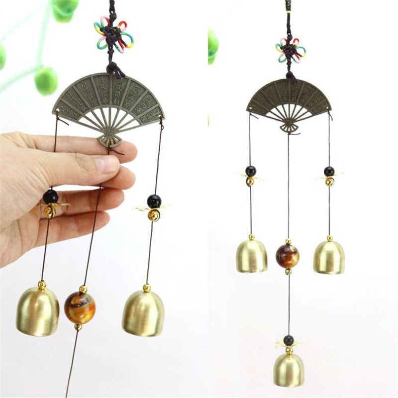 Hanging Fan Wind Chime Windbell Aeolian Bells Copper Wind-bell Garden Home Decor Metal Wind Chimes Decoration Ornament