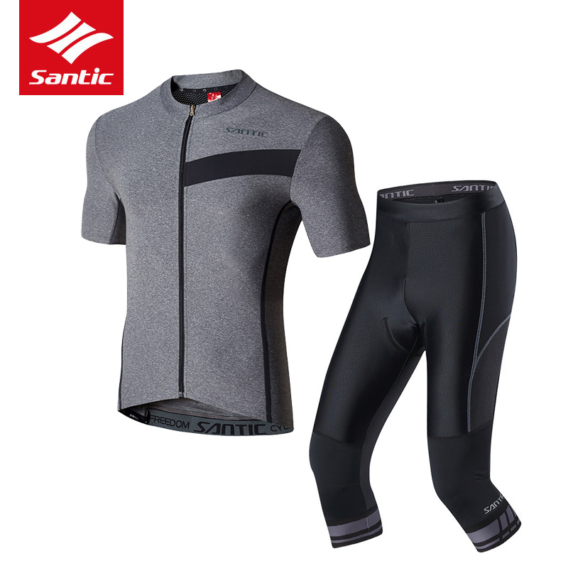 2017 Santic Cycling Jersey Sets For Men Short Sleeve Ropa Ciclismo Sports Riding Jersey Sets Bicycle Bike Suits Cycling Clothing santic short sleeve cycling jersey bib shorts pad sets conjunto ciclismo manga cycling bike sports clothing mct031