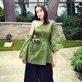 [Chicever] primavera sólida removível manga irregular lace up chanfrado strapless magro trench coat para as mulheres novo clothing