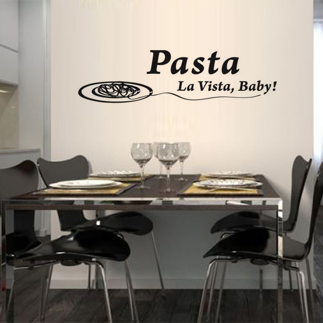 Pasta La Vista Baby Wall Sticker Spanish Dining Room Removable Vinyl Self Adhesive Meal Decal