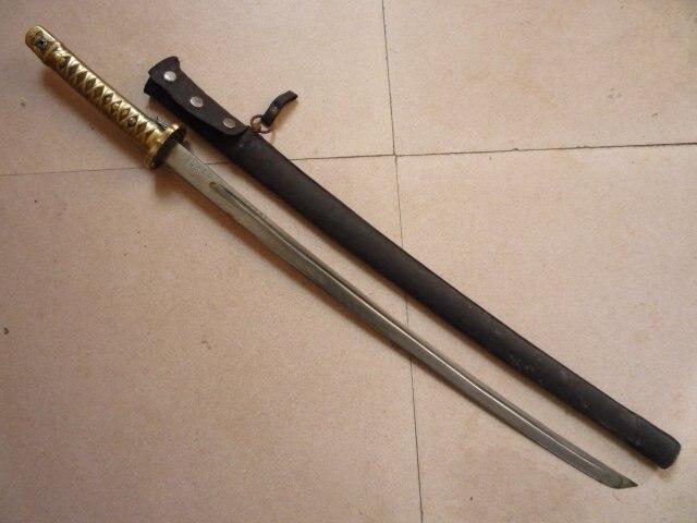 Les collectionneurs seconde guerre mondiale samouraï japonais katana/dao/sword, peau