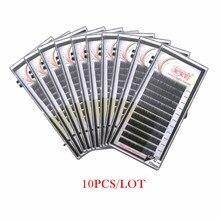 Newcome 10 bandejas/lote todos os tamanhos extensão de cílios individuais natural falso vison russo volume extensões de cílios maquiagem cílios