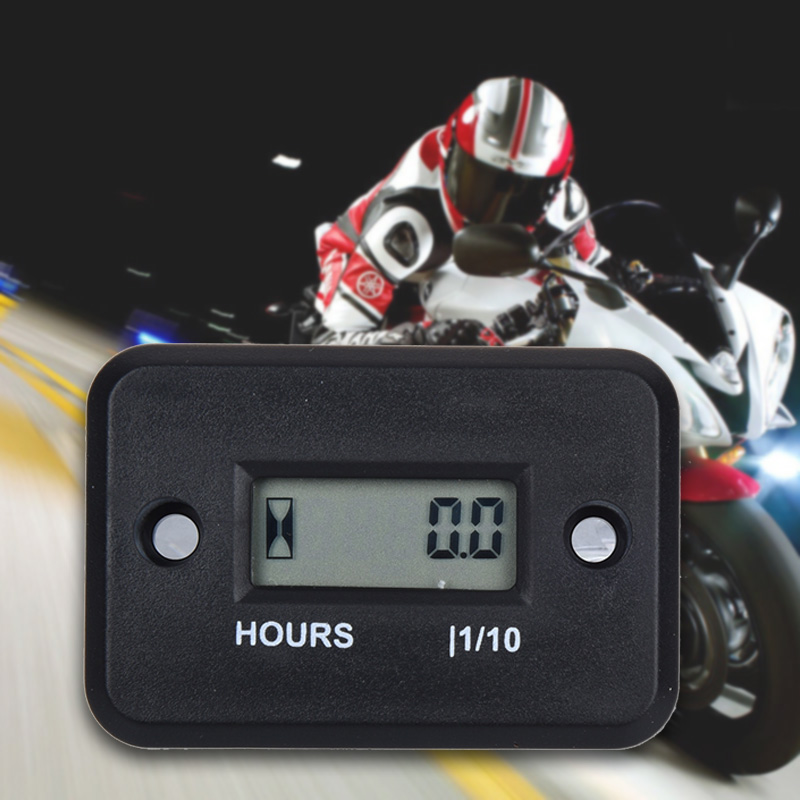 Inductive Hour Meter for Bike Motorcycle ATV Snowmobile Boat Ski Dirt Gas Engine in Instruments from Automobiles Motorcycles