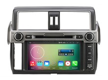 Quad core Android 5.1.1 Car DVD Radio Player for Toyota Prado Land Cruiser 150 LC150 2014 2015 with GPS BT WiFi Mirror link
