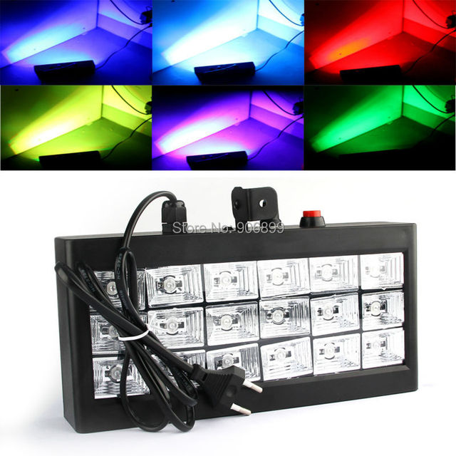 20W Voice Control Led Stage DJ Lights Strobe Ball Disco Flash Light  RGB Club Party Stage Effect For The Stage AC110-240V#818-10