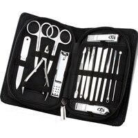 JIEFUXIN 15 stücke Set Nagelknipser Kit Nagelpflege Set Nagelschere Pinzette Messer ohr-auswahl Dienstprogramm Maniküre-set Werkzeuge Dropship