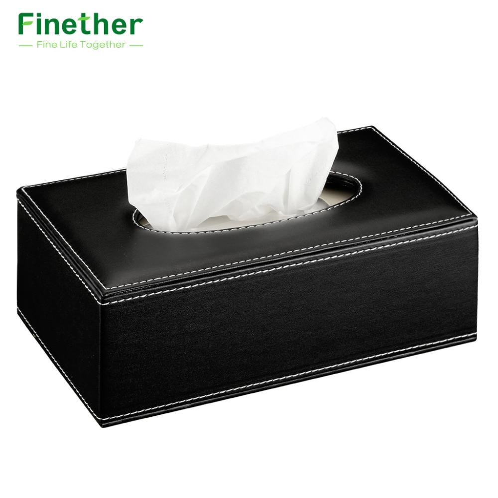 online buy wholesale modern napkin holder from china modern napkin  - finether rectangular pu leather padded top tissue box cover paper case napkinholder with magnet bottom
