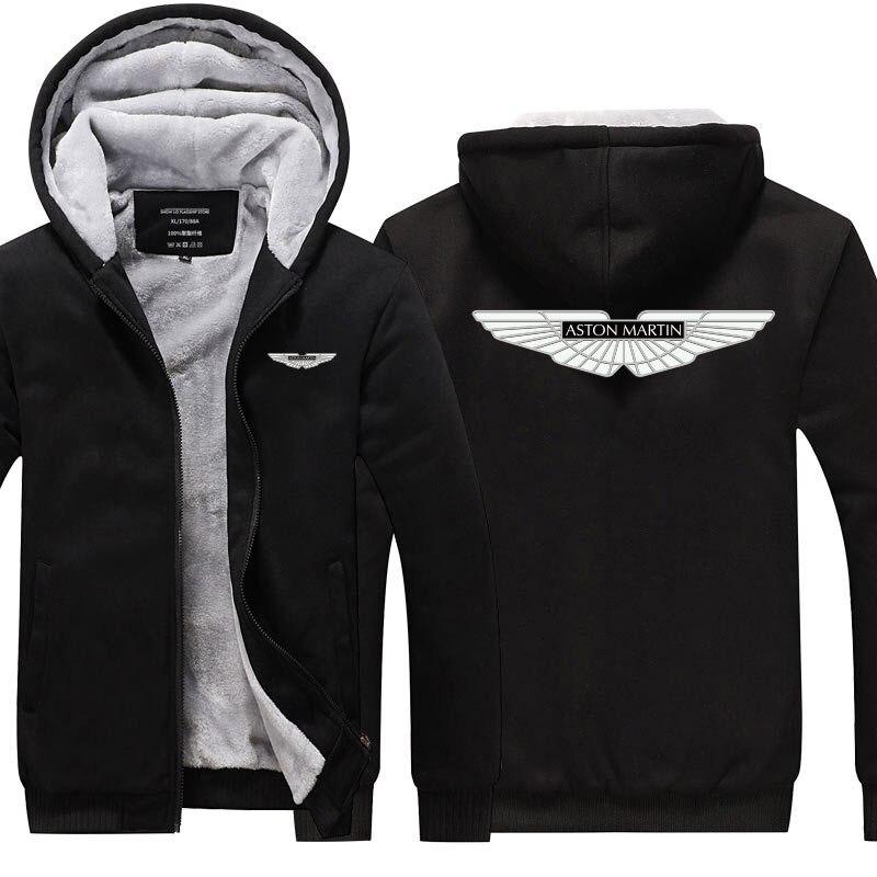 Hoodies & Sweatshirts Winter Men Solid Colour Aston Marting Sweatshirt Winter Hoodies Coats Hoodied Casual Pullover Jacket Clothes Men Tops