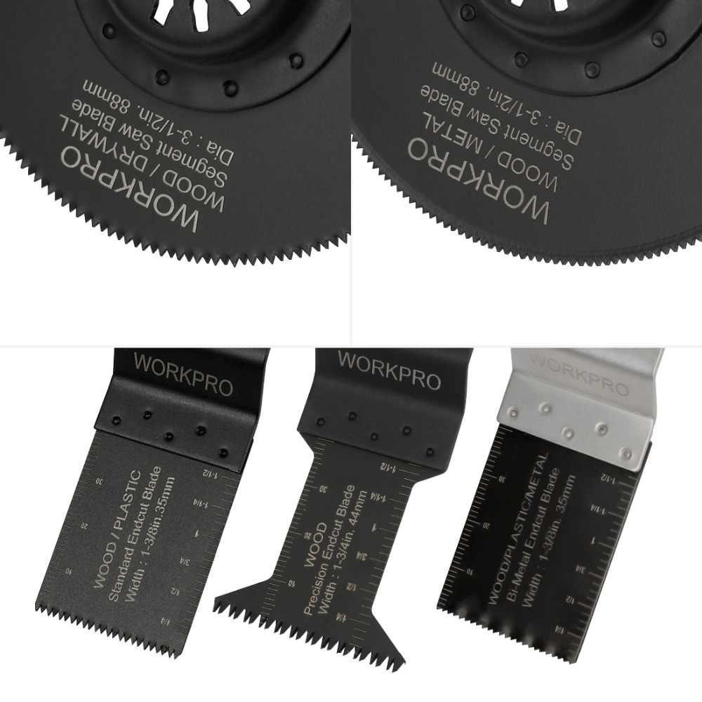 WORKPRO 23 шт. пилы мульти инструмент лезвия для маятниковой пилы для Dremel Bosch Milwaukee быстросъемные пилы лезвия для металла/дерева
