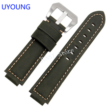UYOUNG Watchband 24 x 16mm Quality Genuine Leather Strap For T49859|T2N720|T2p141|T2n722|723|738|739 Watch accessories
