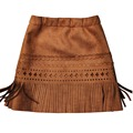 girl New 2017 Kids Baby Girls Skirt fashion khaki PU Leather tassel hem skirt toddler girls clothes cutting girl bibs skirt