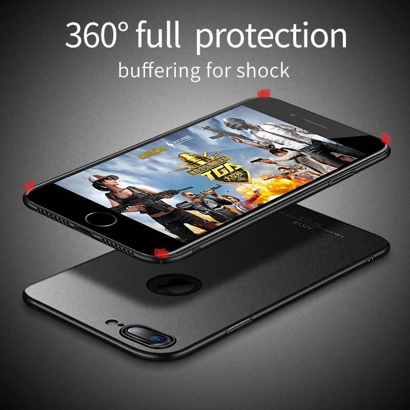 Msvii чехол для телефона для iPhone X, 8, 7, 6, 6 S, Plus, ультра тонкий твердый пластиковый чехол на заднюю панель для iPhone 7 8 Coque Fundas с полной защитой