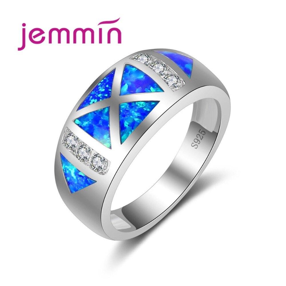 Geometrisch ontwerp Micro Clear Rhinestone Ring Fijne 925 - Fijne sieraden