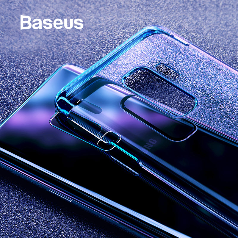 wholesale dealer a456e 61e6a Baseus For Samsung Galaxy S9 Case Luxury Plating Hard Plastic Case For  Samsung Galaxy S9 S9 Plus Ultra Thin Transparent Coque