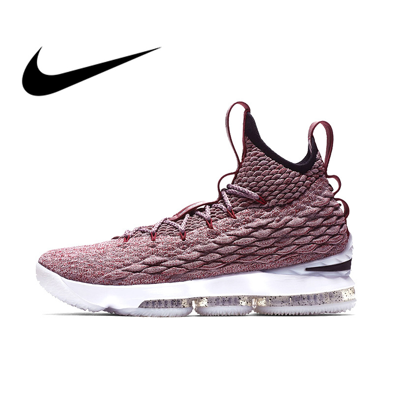 Original Authentic NIKE LEBRON XV EP Men's Basketball Shoes Sports Outdoor Sneakers Comfortable Breathable 2019 New Arrival
