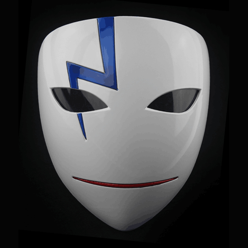 Movie Theme Party Masks Anime Smile Hei Lee Cosplay Props Halloween Darker Than Black Resin