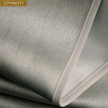 Роскошные шторы плотные шторы для гостиной rideaux тисненая ткань шелковое ощущение окна шторы для спальни