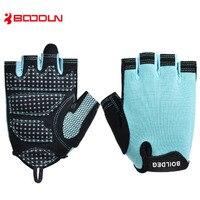 BOODUN Professional Gym Gloves Men Women Body Building Half Finger Fitness Gloves An slip Weight Lifting Sports Training Gloves