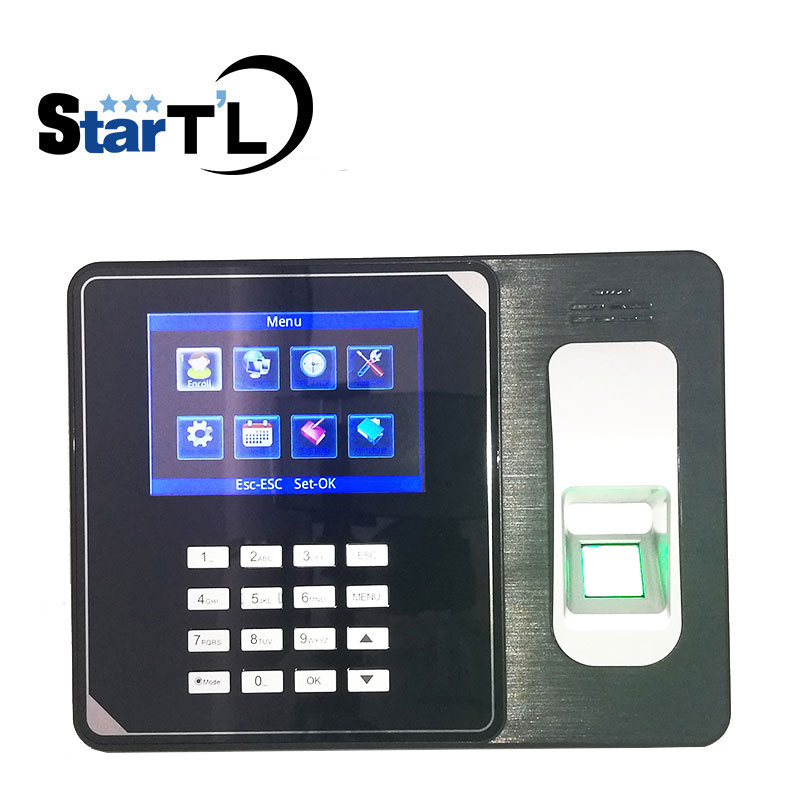 SSR Biometric Fingerprint Time Clock Recorder Attendance Employee Electronic Finger and Card Time Attendance with battery