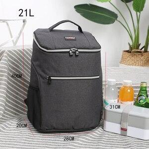 Image 3 - SANNE Bolsa de enfriamiento impermeable gruesa, bolsa de hielo con aislamiento fresco, bolsa aislante térmica, estilo mochila, 20L