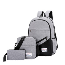 Litthing New 3 Pc/set Anti Theft Backpack Men Women Casual Travel Laptop School Bags Sac A Dos Homme Zaino