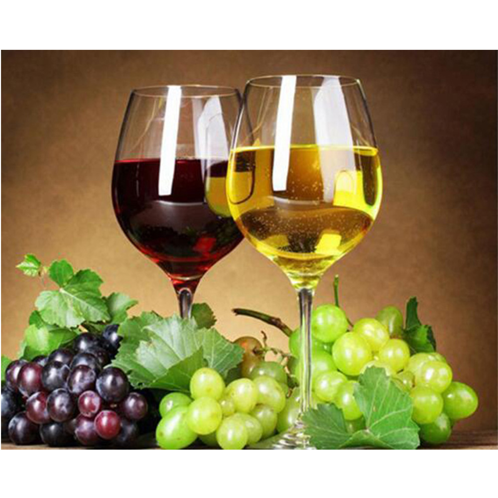 5d diamond painting fruit and Wineglass Cross Stitch DIY crystal rhinestones Diamond mosaic Paste pattern Decor Gift M212