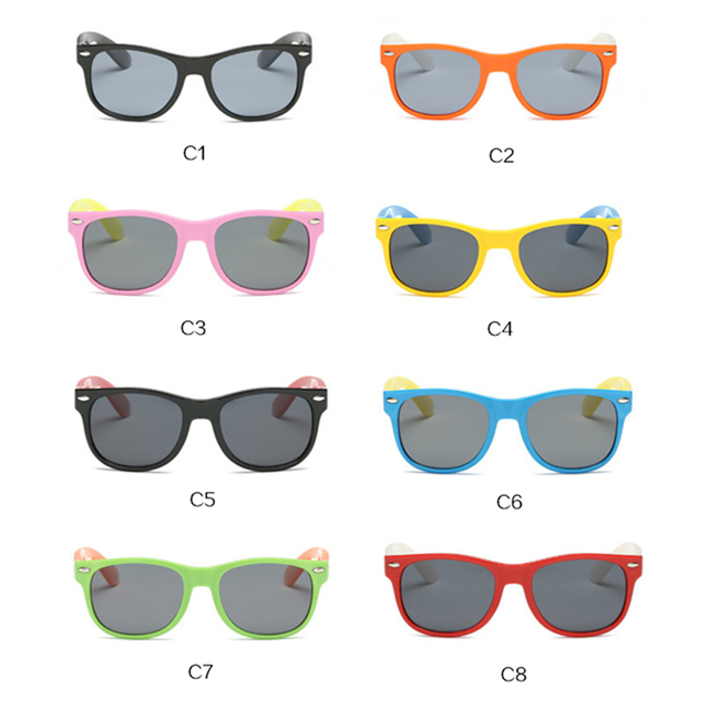 Children Polarized Sunglasses Kids Boys Girls Ultra-soft Silicone Glasses Fashion Child Baby Safety Sun Glasses UV400