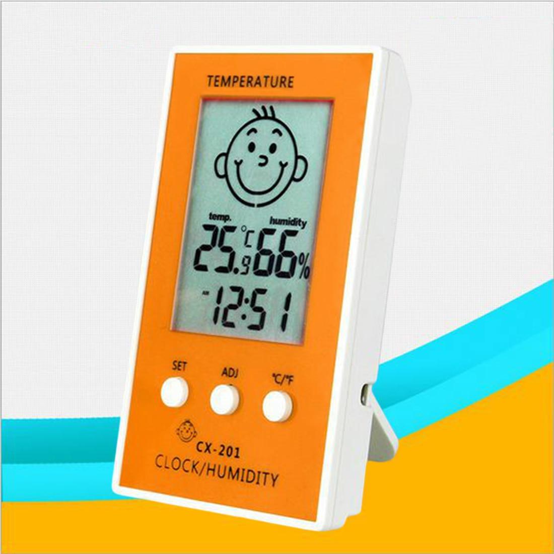 1 Stücke Präzise Hygrometer Digitale Uhr Temperatur Logger Feuchtigkeit Meter Thermometre Higrometre Indoor Outdoor Thermometer SchöNer Auftritt