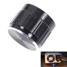10 шт. черный потенциометра Кепки внутренняя 6 мм 17×21 мм Регулировка громкости поворотный переключатель Алюминий
