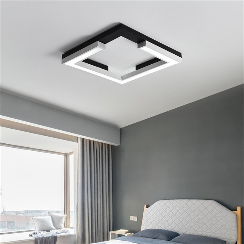 Minimalism Square plafon led Modern led ceiling lights for living room bedroom kitchen lamp Black ceiling