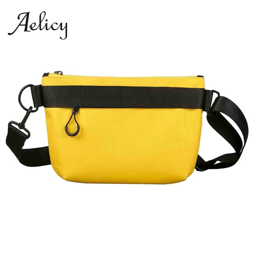 Aelicy Neutral Messenger Bag Men Waterproof Harajuku Style Student Couple Travel Inclined Shoulder Bag For Teenager BoysAelicy Neutral Messenger Bag Men Waterproof Harajuku Style Student Couple Travel Inclined Shoulder Bag For Teenager Boys