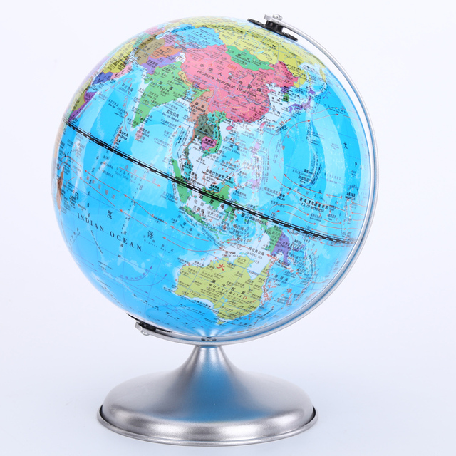 Zhicheng 20cm hd english student globe metal base study of zhicheng 20cm hd english student globe metal base study of childrens birthday gift ornaments negle Image collections