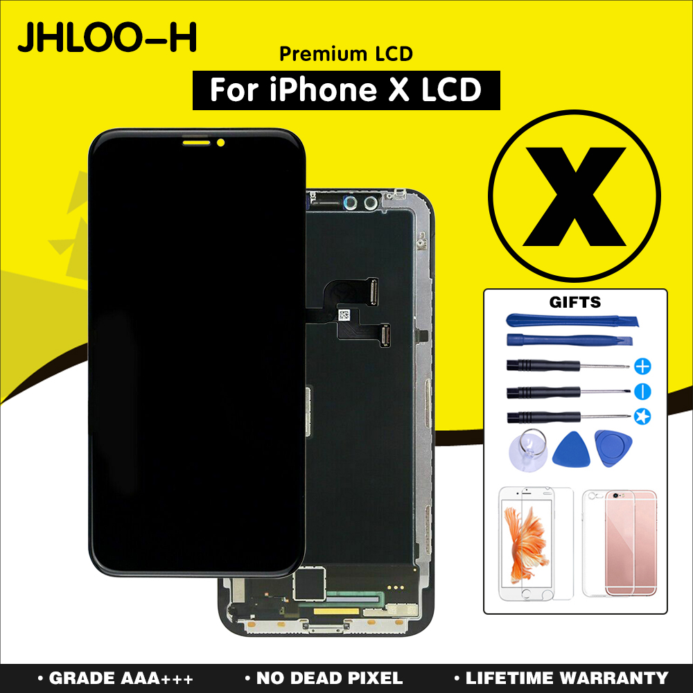 Grade AAA LCD Display Replacement For iPhone X OLED Quality LCD Module with Touch Screen Digitizer Assembly No Dead Pixel-in Mobile Phone LCD Screens from Cellphones & Telecommunications