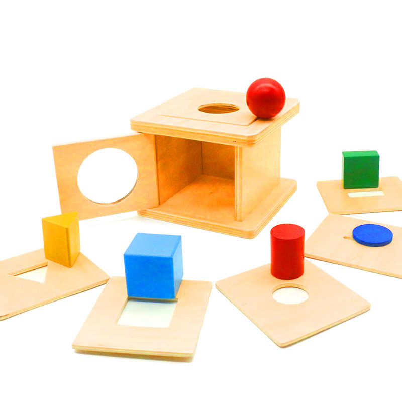 Montessori Baby 6 - 12 Months 6 In 1 Wooden Shaped Matching Game Development Toys Learning Educational Preschool Training  G588T
