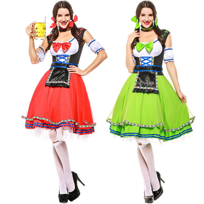 Sexy Maid dress costume for woman  Beer Wench Costume German Bavarian Beer adult  Oktoberfest Costume cosplay for girls party