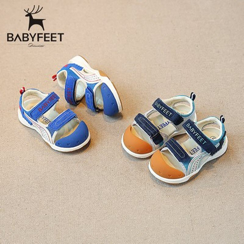 Babyfeet Functional Sandal 2017 New Arrival Boys closed toe Sandals Children shoes Little baby girl boy Toddler Kids beach shoes babyfeet newborn baby boy shoes toddler sandals leather non slip kids shoes 0 1 years old boy girl children infant infantile