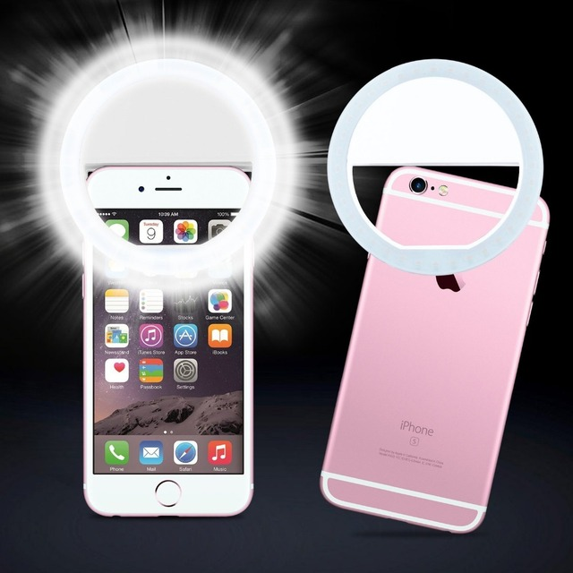 the latest 265a0 4b05d US $4.22 |LED Selfie Ring Light for samsung Samsung S8 plus S7 S6 S5 S4 S3  note Flash Light Luminous Case for iphone 7 6s-in Holsters & Clips from ...