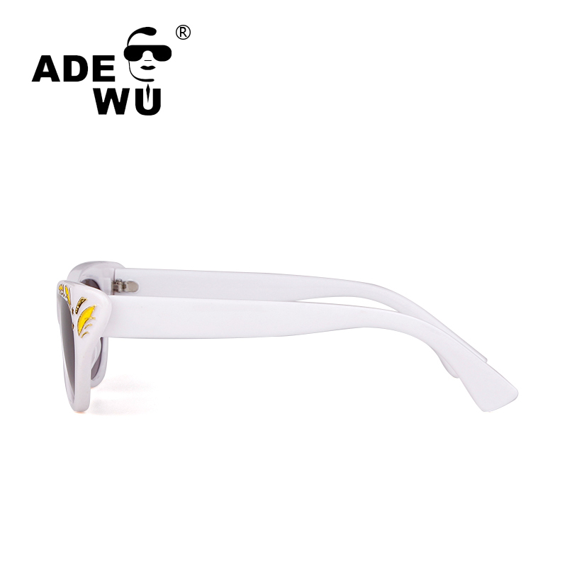 ADE WU Cateye Sunglasses Women UV400 Gradient Sunglasses For Women Sexy Flower Frame Female Sun Glasses Funny Eyewear