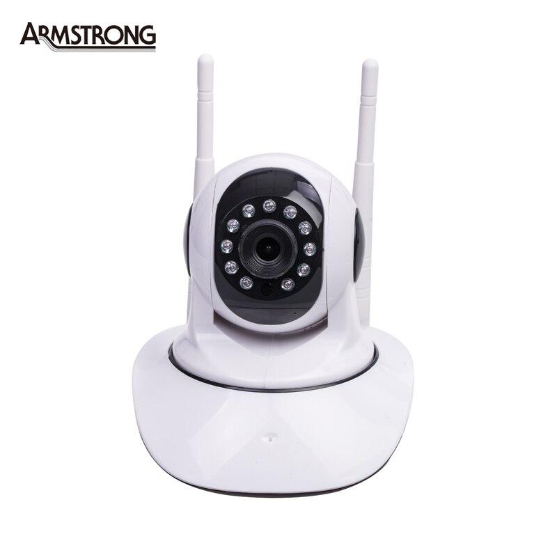 ФОТО  720P HD Double Wifi IP Camera  355 Degree Rotation Night Vision Network CCTV Camera P2P Onvif