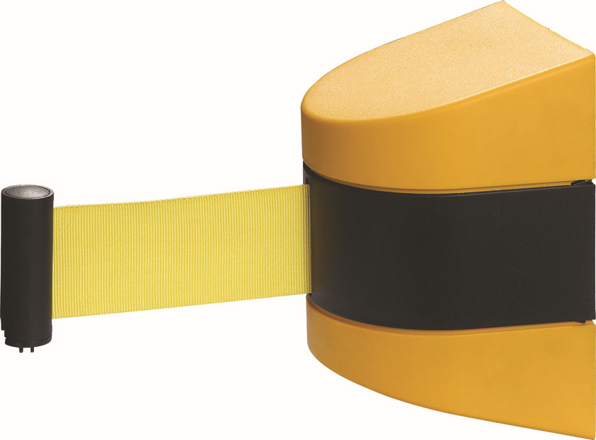 10m Retractable Barrier Tape Safety warehouse workshop crow control wall mount