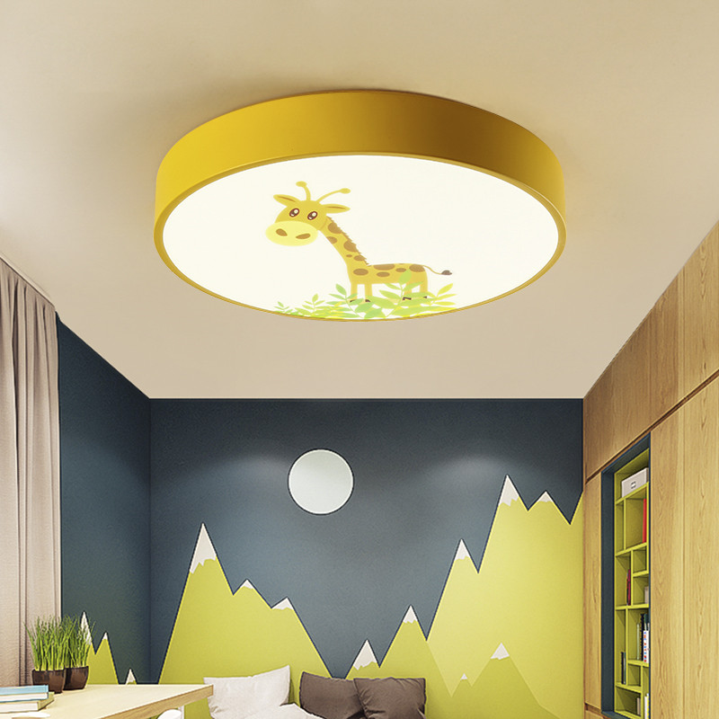 US $63.36 37% OFF|Iron Acrylic Round Circle UFO Children Boys Led Bedroom  Ceiling Light Lamp Fixtures 110V For Children\'s Kids Bed Room Nursery-in ...