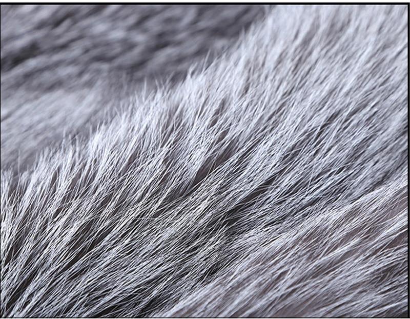 Mannen Luxe Noorden Winter Warm Faux Fur Lange Jas 2018 Brand New Faux Fox Fur Thicken Notched Overjas Mannen punk Uitloper Grijs-in Kunstleerjassen van Mannenkleding op  Groep 3