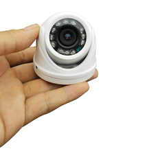 Mini Indoor Dome CMOS 800TVL HD CCTV cameras metal LED infrared light night vision security