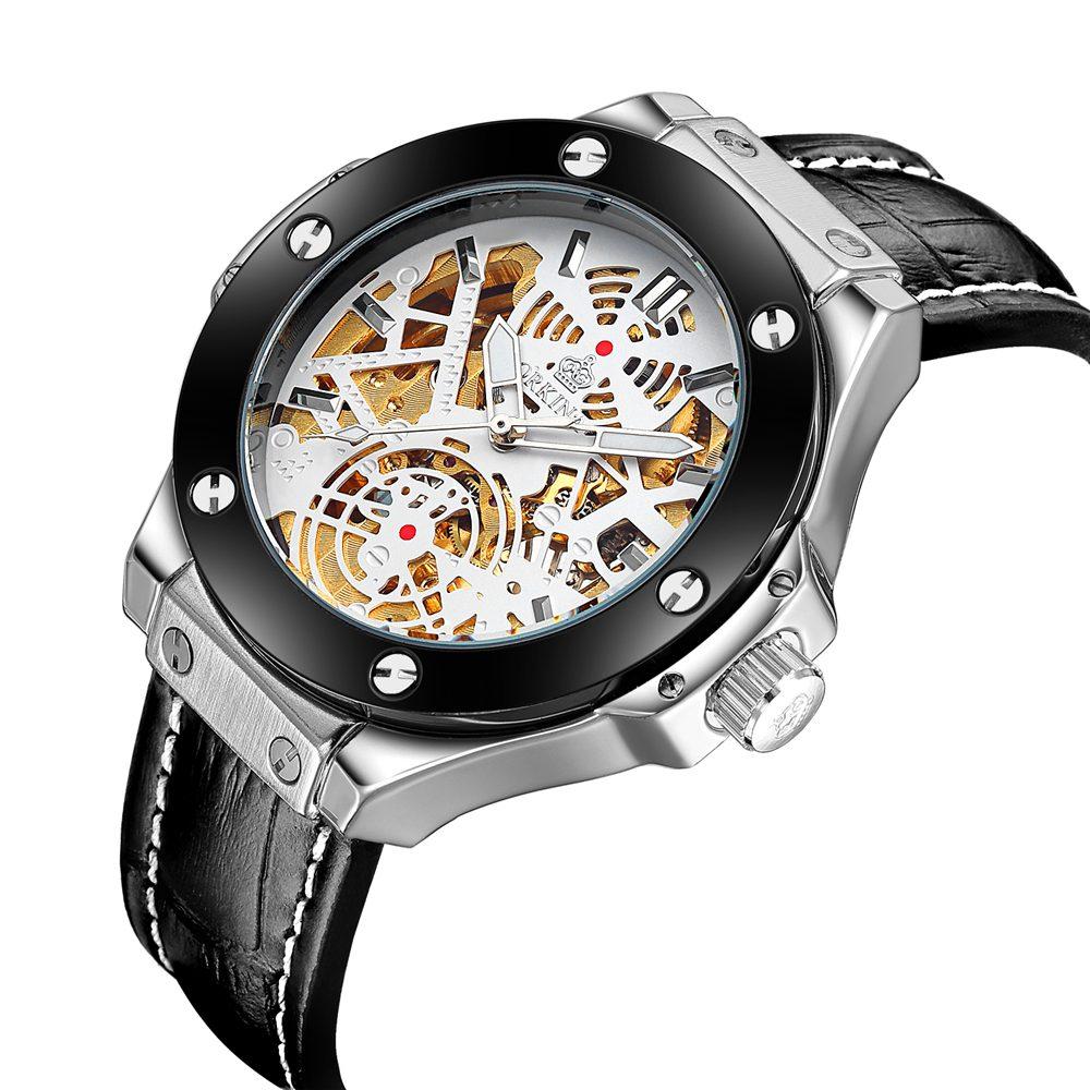 ФОТО JARAGAR Montre Femme Marque de Luxe Watch Men's Skeleton Automatic Mechanical Wrist Watches Gift Box Free Ship